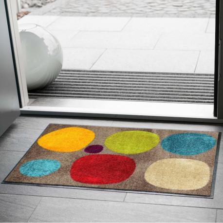 Tapis de propreté - paillasson Broken Dots colourful - EFIA
