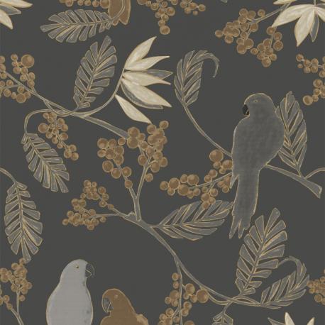 Papier peint à motif MARAKAI noir JF3401 - JUNGLE FEVER - Grandeco
