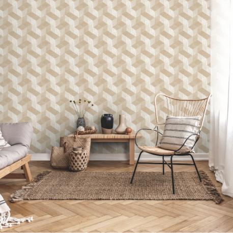 Papier peint à motif FRENO beige JF3301 - JUNGLE FEVER - Grandeco