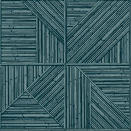 Papier peint à motif PAGLIA bleu JF2402 - JUNGLE FEVER - Grandeco