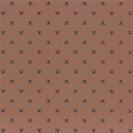 Papier peint à motif APIS terracota B74340581 - BLOSSOM - Casamance