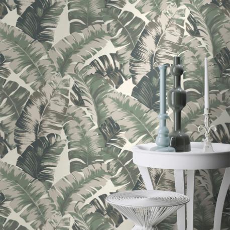Papier peint motifs JUNGLE vert 535600 - YUCATAN - RASCH