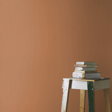 Papier peint faux uni MEXICO orange 535334 - YUCATAN - RASCH