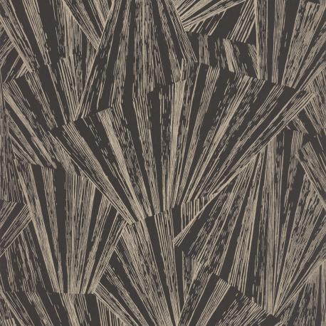 Papier peint Eclat noir irisé  - 1930 - Casadeco - 85869515