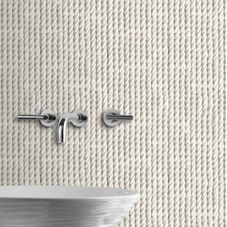 Papier peint trompe l'oeil Cordes blanches- VOYAGES - UGEPA