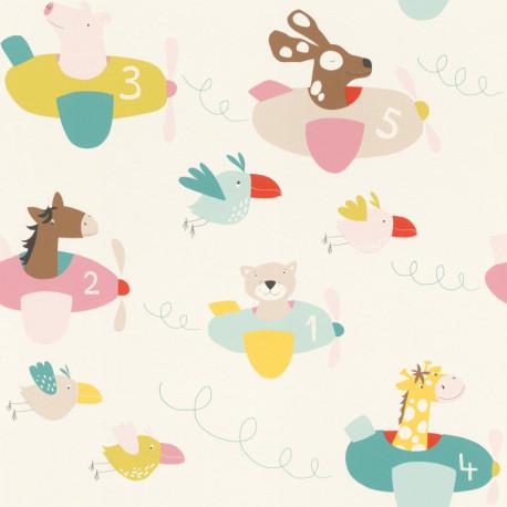 Papier peint Nounours multicolore - BAMBINO - Rasch - BBN249064