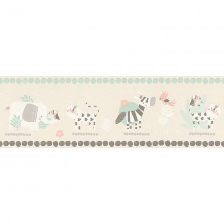 Frise enfant Animals beige - BAMBINO - Rasch - BBN249866
