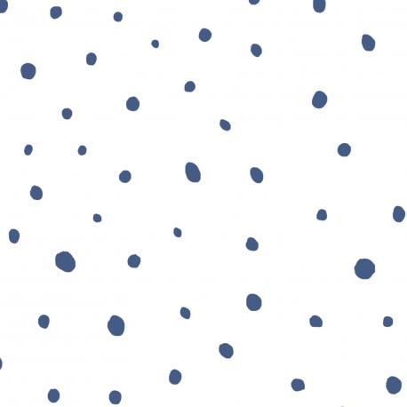 Papier peint Plumetis bleu - BABY LAND - Lutèce 5453