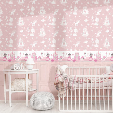 Frise Petite Princesse rose - BABY LAND - Lutèce 5498