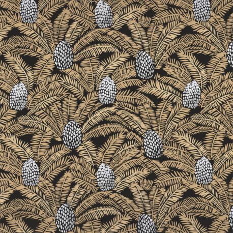 Papier peint Palmeta noir et doré - ORPHEE - Casamance - 74741840