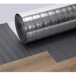 Sous-couche SILVERFOAM - THEARD. Isolation phonique aux bruits d'impacts pour parquets et sols stratifiés.