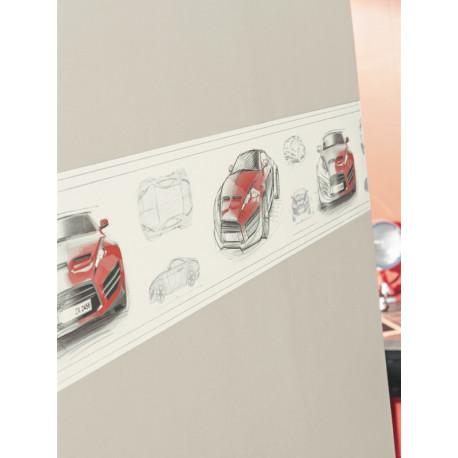 Frise adhésive enfant Concept Car rouge - ONLY BOYS - Caselio - OLB64748064