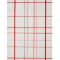 Papier peint à motif Torchon de cuisine rouge - Cavaillon - Caselio