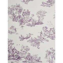 Papier peint à motifs Jouy mauve - Chantilly - Casadeco