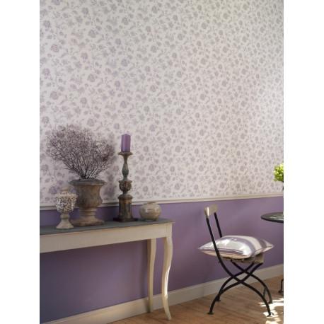 Papier peint Fleurs mauve - CHANTILLY - Casadeco - CHT22965137
