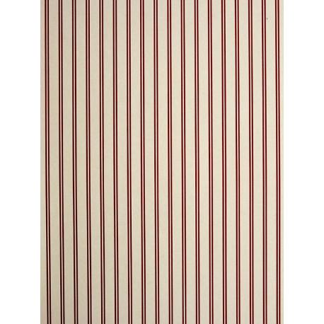 Papier peint Rayures rouge - CHANTILLY - Casadeco - CHT22988121