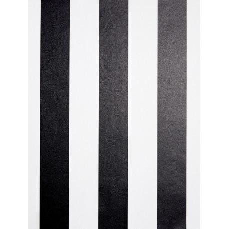 Papier peint à motif Rayures bicolores noir/blanc - Love - Caselio