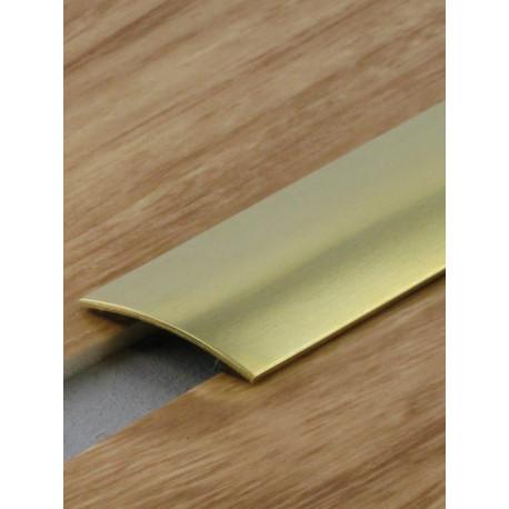 0,73mx30mm - Barre de seuil laiton poli - adhésive plate - Presto - DINAC