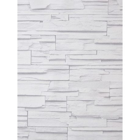 """Papier peint METAPHORE effet """" parement """" blanc cassé par Caselio"""