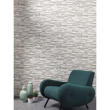 Papier peint Parement gris beige - METAPHORE - Caselio - MTE65549000