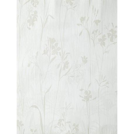 """Papier peint AMAZONIA """"Herbier"""" blanc et beige par Caselio"""