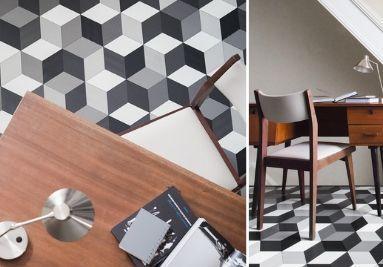 Sol Cube It 97 géométrique gris, noir et blanc